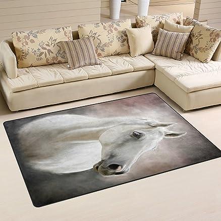 Ingbags super morbido moderno cavallo bianco area tappeti ...