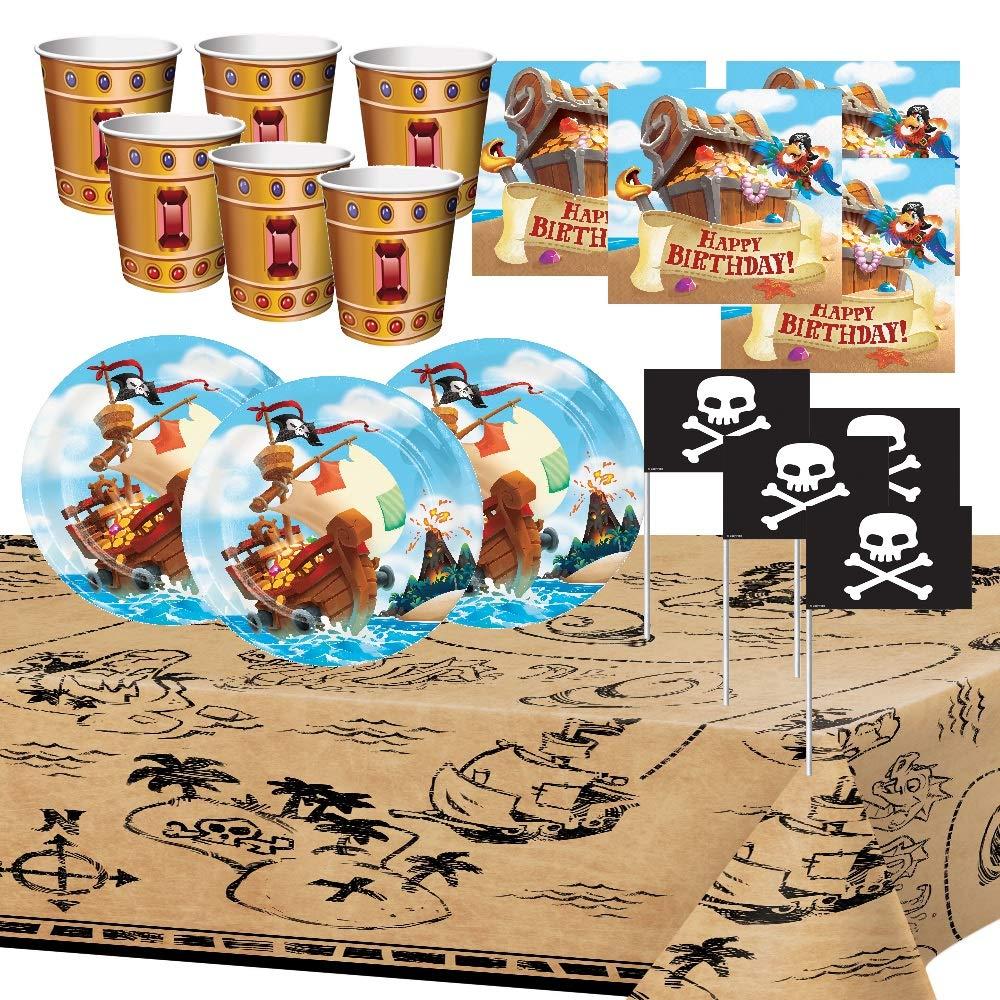 Generico Pirati Tesori Compleanno Partito Bambino Ragazzo Decorazione Tavolo Stoviglie Tovaglia Piatti Tazze Tovaglioli 8 Bambini