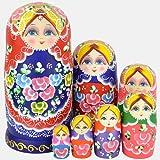 YAKELUS 7pcs Russian Nesting Dolls Matryoshka handmade0702