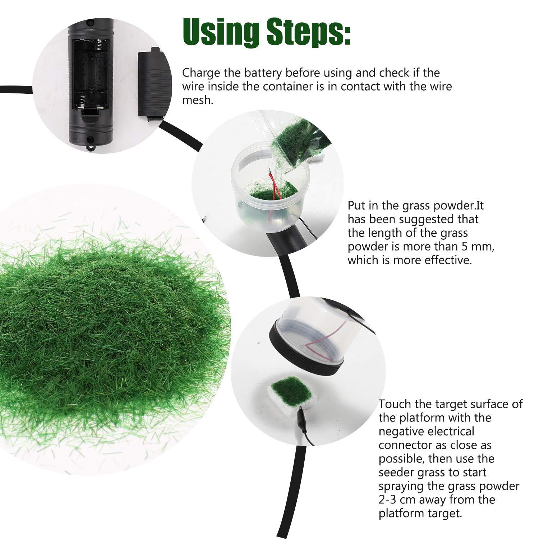 Applicateur dherbe statique,Applicateur de flocage applicateur herbe statique pour table de sable /à modeler panoramique avec poign/ée antid/érapante