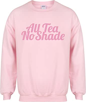 Unisex Slogan Sweater Jumper All Tea, No Shade Pink Small with Pink
