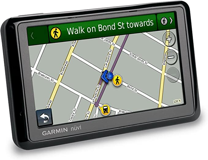 Grey GARMIN NUVI WIDESCREEN 255W GPS SAT NAV GPS WITH USA AND CANADA MAPS INSTALLED
