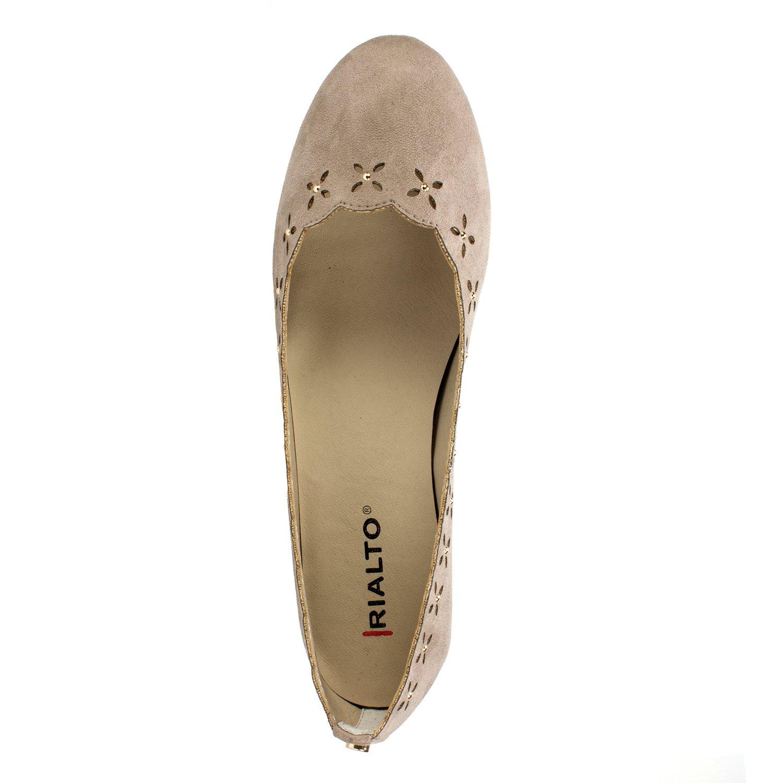 RIALTO Shoes Grady Women's Flat B07C26JM4H 7 B(M) US|Light Taupe