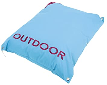 Coussin Outdoor 100 cm Turquoise imperméable et déhoussable aussi ...