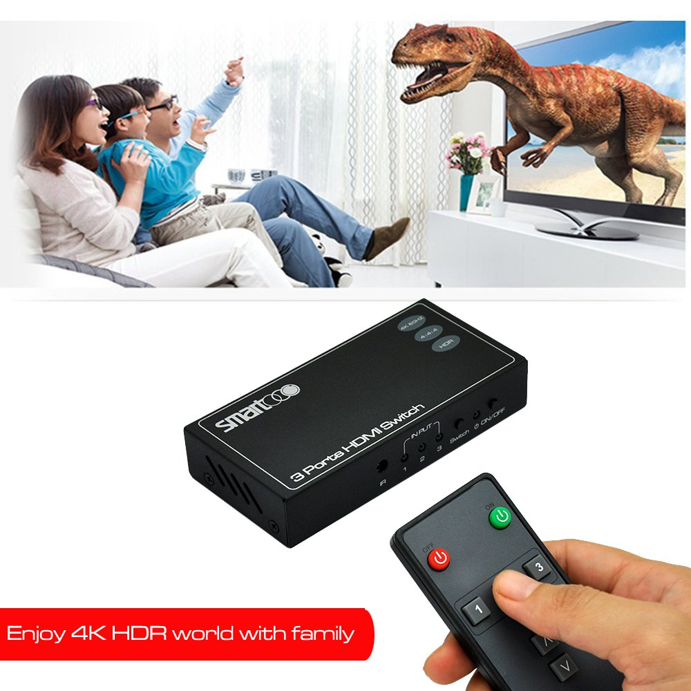 Smartooo 23031 4k60hz Hdmi 20 Switcher 3x1 Hdr 3 Xbox 360 Automatically Resets With Switches Page 10 Avs Forum Ports Switch 3x13 Inputs And 1 Output 444 Remote Control Auto