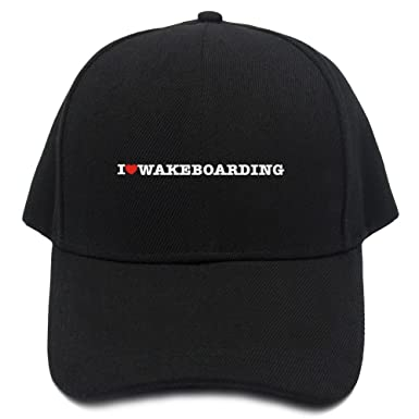 0d32c6d94cc Teeburon I love Wakeboarding Baseball Cap at Amazon Men s Clothing ...