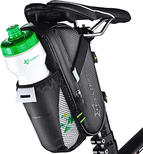 Large Bike Saddle Bag with Water Bottle (Waterproof Bike Bag Under Seat) [Rockbros] Picture