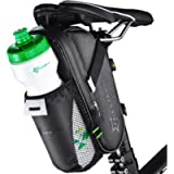 ROCKBROS Bike Saddle Bags with Water Bottle Pouch Waterproof Bike Bags Under Seat Pack for Mountain Road Saddle Bag…