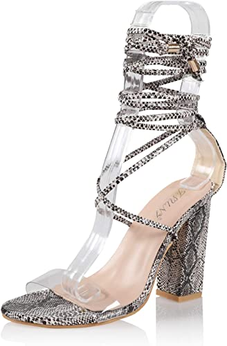 Black High Heel Strappy Sandal Rhinestone Bridal Prom Wedding Formal Qupid Shoes