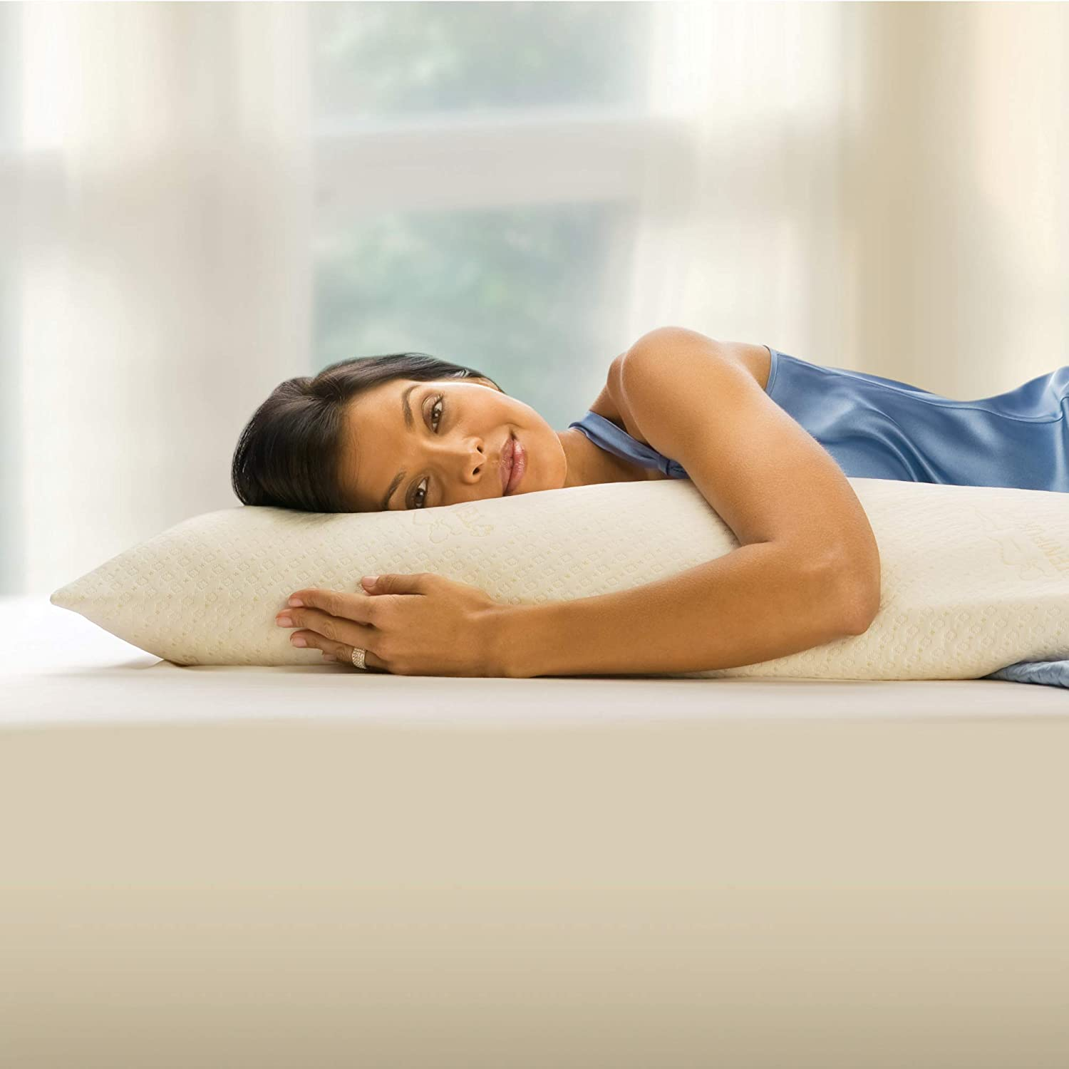 Renewed Pressure Relief Assembled in the USA 5 YR Warranty Soft Support Standard Tempur-Pedic TEMPUR-Body Pillow Adaptable Comfort Washable Cover