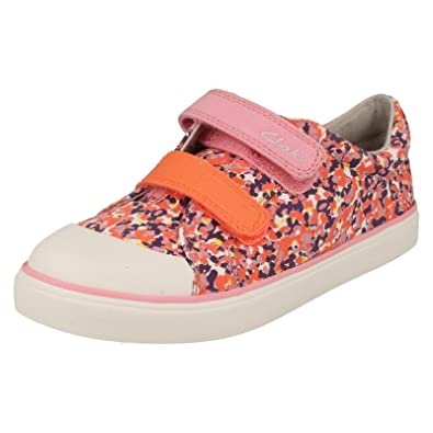 a795ee1993d Clarks Girls Summer Canvas Pumps Brill Ice - Pink Canvas - UK Size 11G - EU  Size 29 - US Size 11.5W  Amazon.co.uk  Shoes   Bags