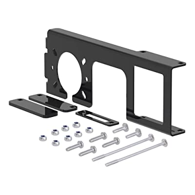 CURT 58000 Easy-Mount Vehicle Trailer Wiring Harness Connector Mounting Bracket for 4-Way or 5-Way Flat and 6-Way or 7-Way Round, Fits 2-Inch Receiver: Automotive