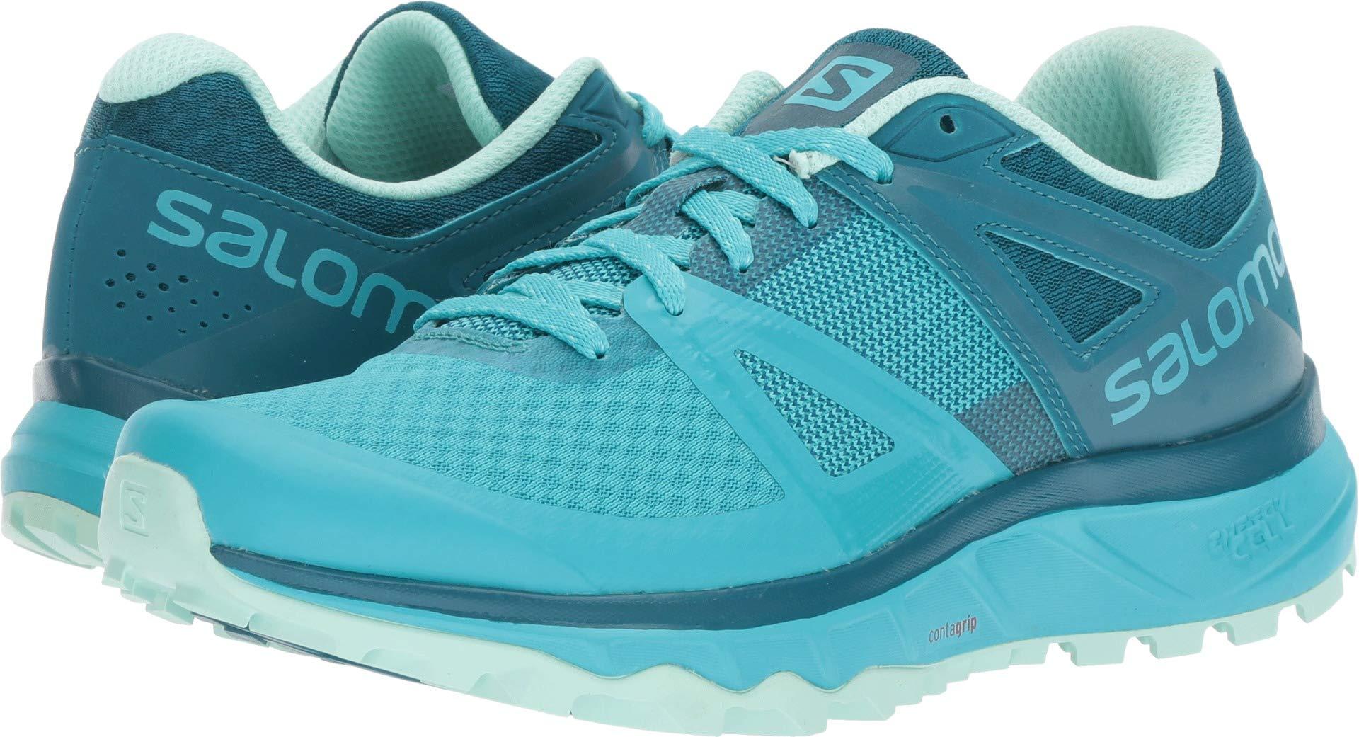 Salomon Women's TRAILSTER W Trail Running Shoe, Bluebird/deep Lagoon/Beach Glass, 6.5 B US