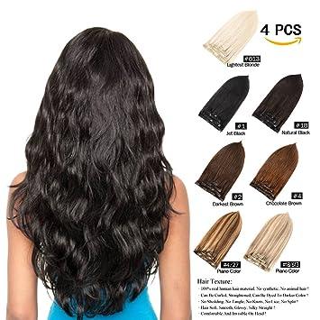 Unique Colorful Hair Extensions Clip Ons
