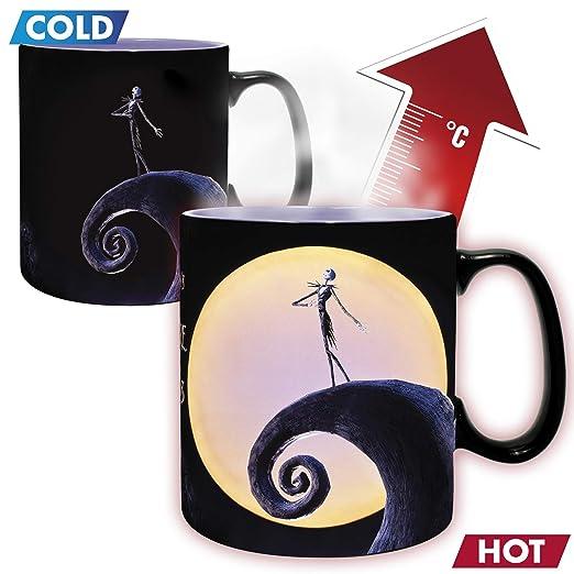ABYstyle - Disney - Pesadilla Antes de Navidad - Taza Cambia Color con Calor - 460 ml - Jack y Luna