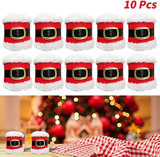 10Pcs White Square Cloth Napkins for Holiday Party Banquet Wedding Hotels Decor