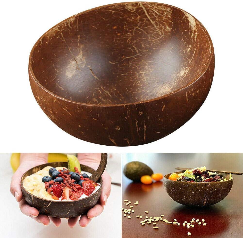 zhuangyulin6 Eco friendly Coconut Bowls,Organic Coconut Bowl,Handmade Coconut Bowl,Natural coconut shell,Coconut Shell Bowl