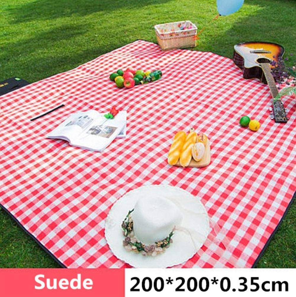 LKJ 200 * 200cm tappetini da Campeggio per Bambini Picnic da Spiaggia a Prova d'umidità da Esterno Coperta da Plaid Yoga da Spiaggia Oxford Pad, 1 7