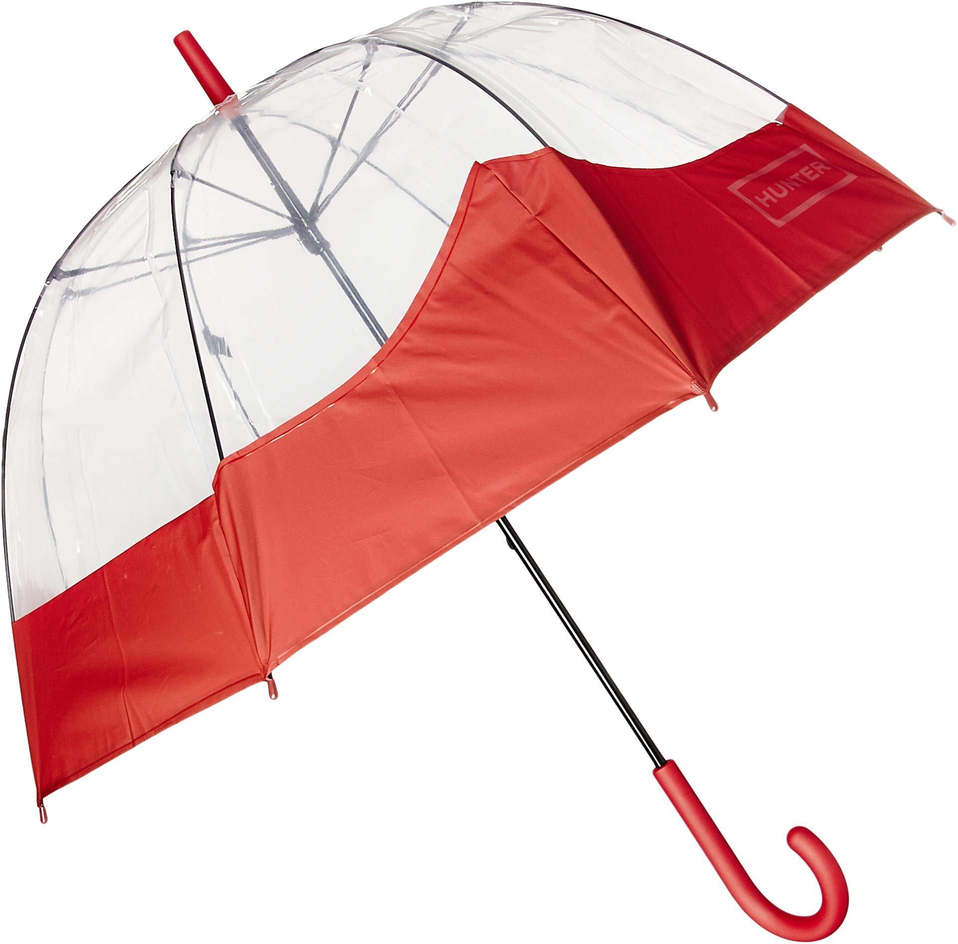 Hunter Unisex Original Welded Moustache Bubble Umbrella Military Red One Size