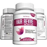 Hair Skin and Nails Vitamin Supplement with Biotin - Promotes Faster Hair Growth, Glowing Skin, Strong Nails - For Women & Men - 60 Capsules - Made in USA