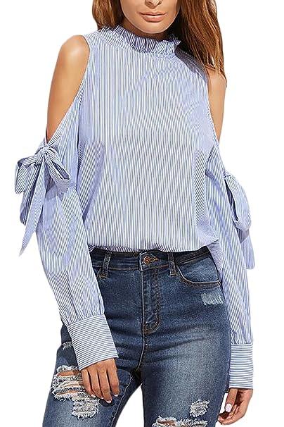 prezzo competitivo b4a9a a2858 HX fashion Camicie Donna Elegante Moda Unique Primaverile Autunno ...