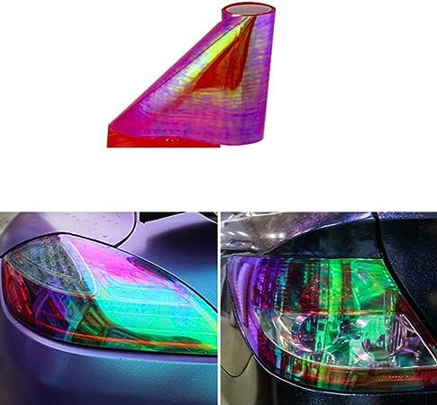 Aby 200cm X 30cm Scheinwerfer Folie Tönungsfolie Aufkleber Für Auto Scheinwerfer Rückleuchten Blinker Nebelscheinwerfer Rot Auto