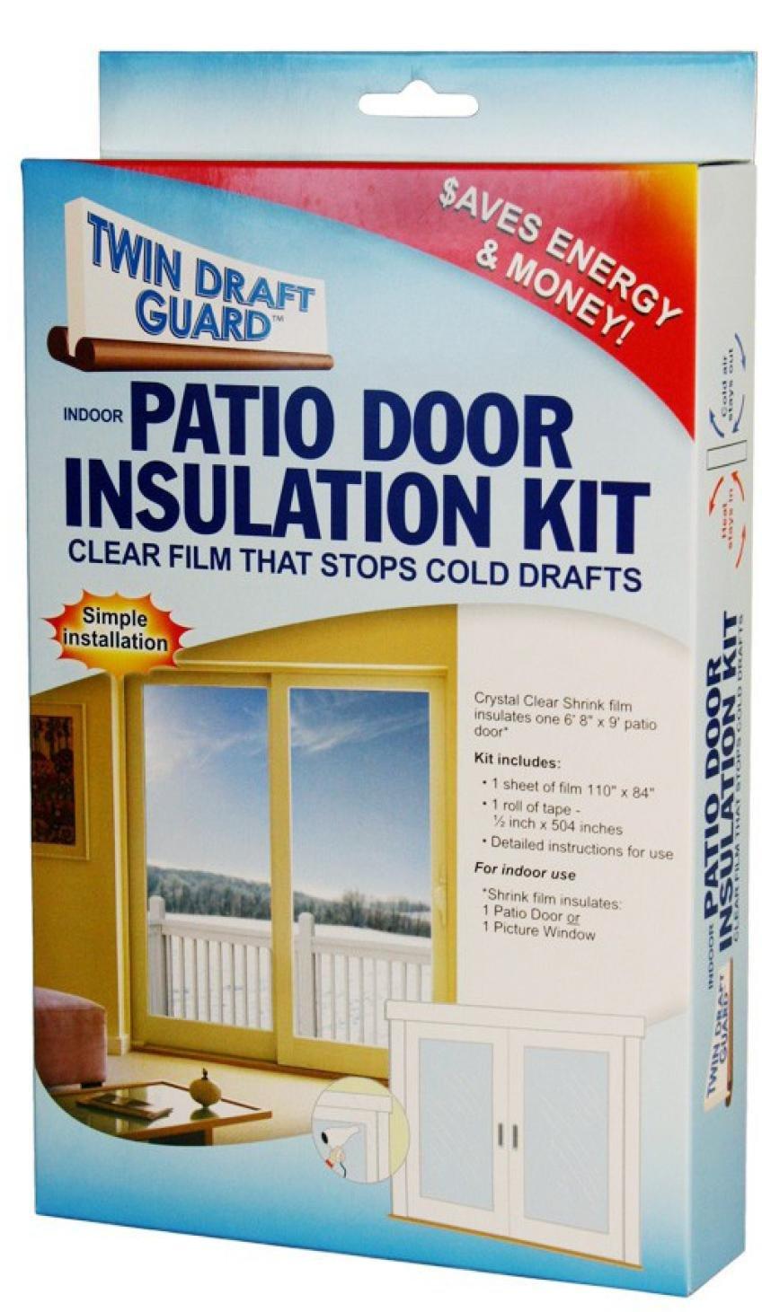 Twin Draft Guard Patio Door Insulation Kit - Weatherproofing Window Insulation Kits - Amazon.com & Twin Draft Guard Patio Door Insulation Kit - Weatherproofing ... pezcame.com