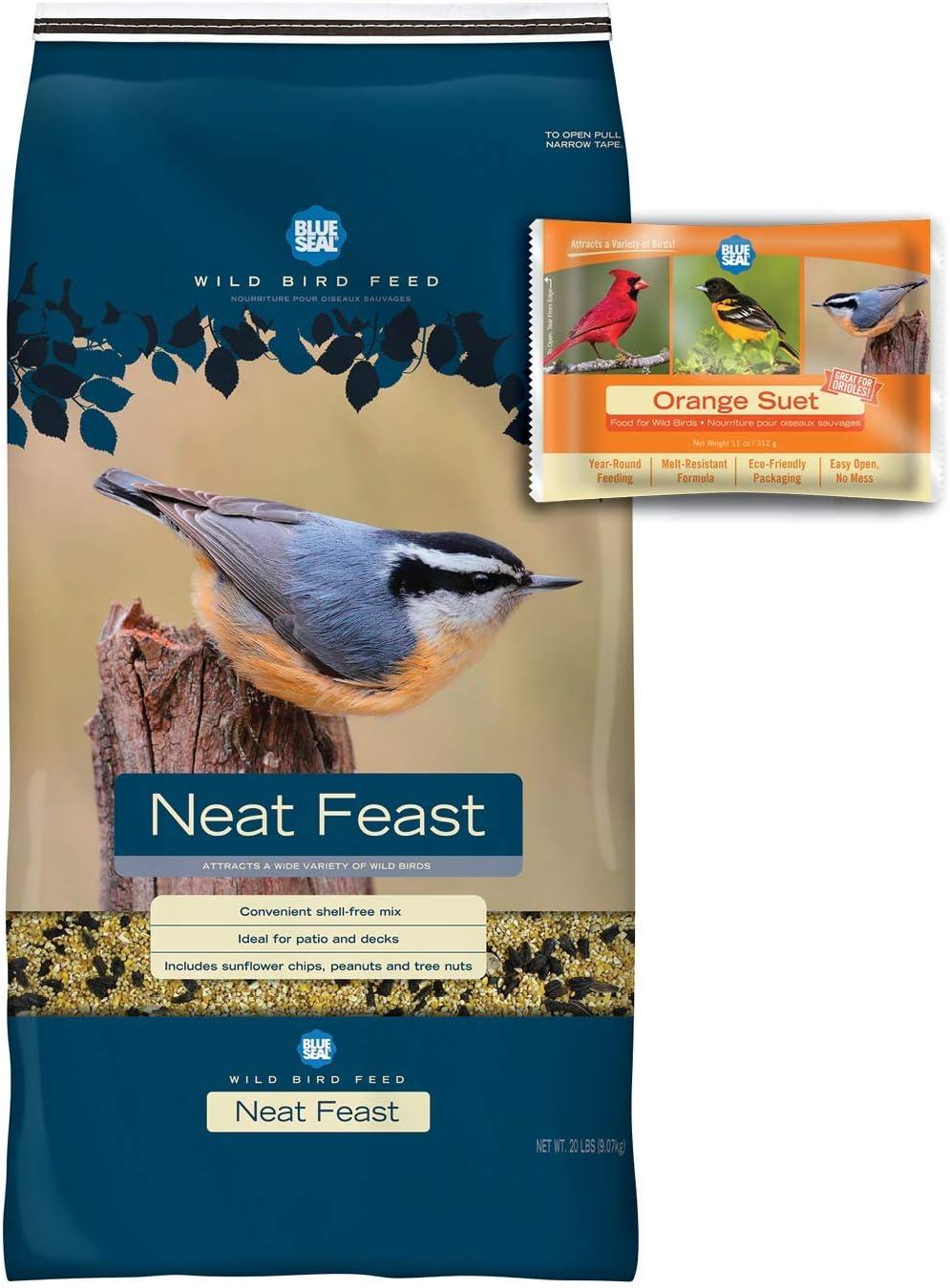 BLUE SEAL Neat Feast Bird Seed & Orange Suet Cake Bundle