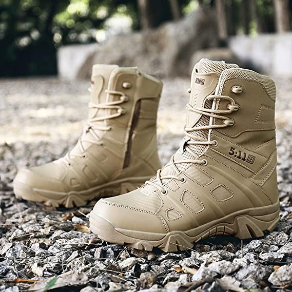 Zapatos de hombre JiaMeng Zapatos con Cordones Botines Adventure Adulto Cómodo Antideslizante Combate Resistente al Desgaste para Caminar al Aire Libre ...