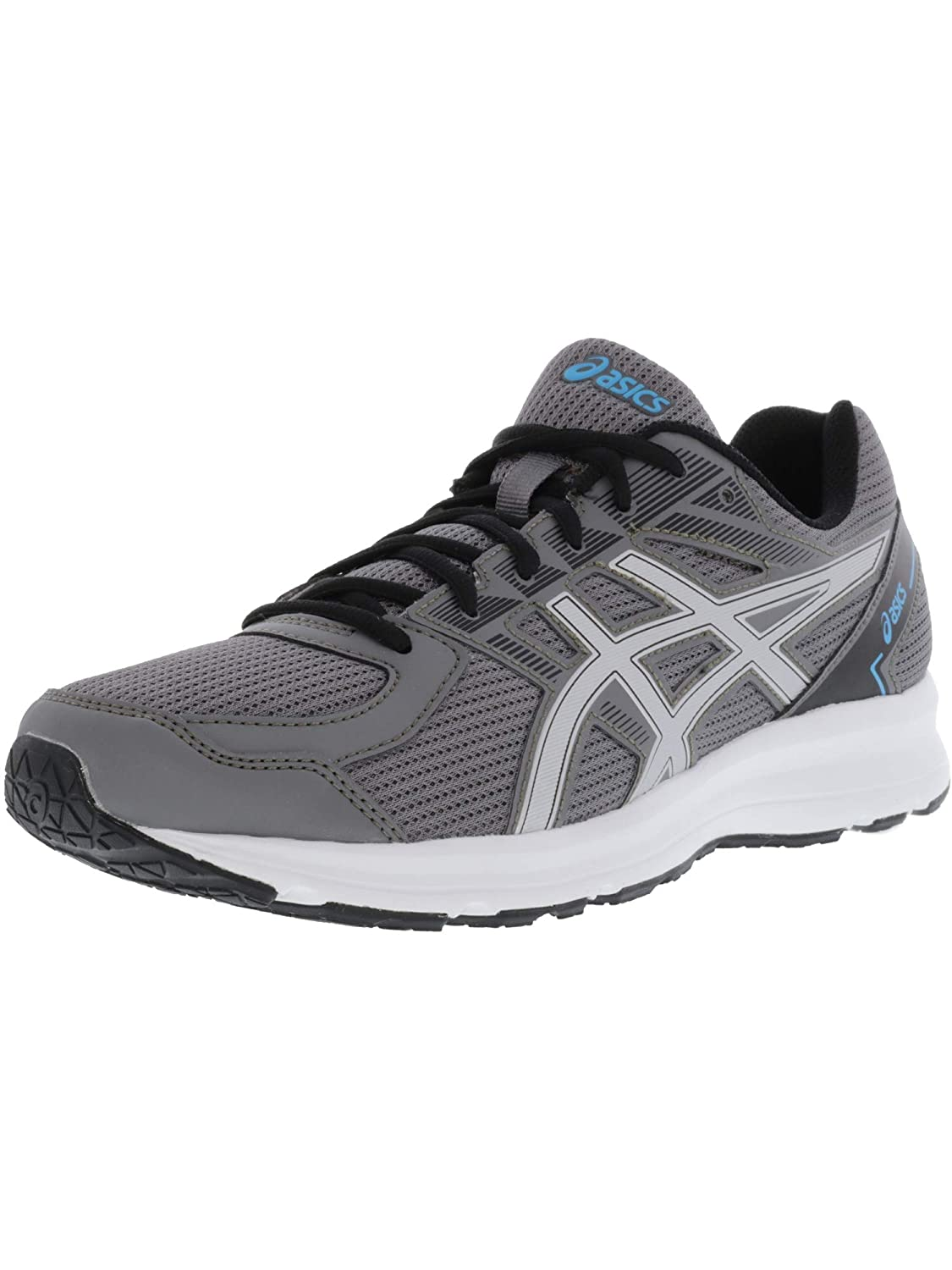 Asics Mens jolt Low Top Lace Up Running Sneaker B073HC9FWY 12.5 EEEE US|Carbon/Silver/Island Blue Carbon/Silver/Island Blue 12.5 EEEE US