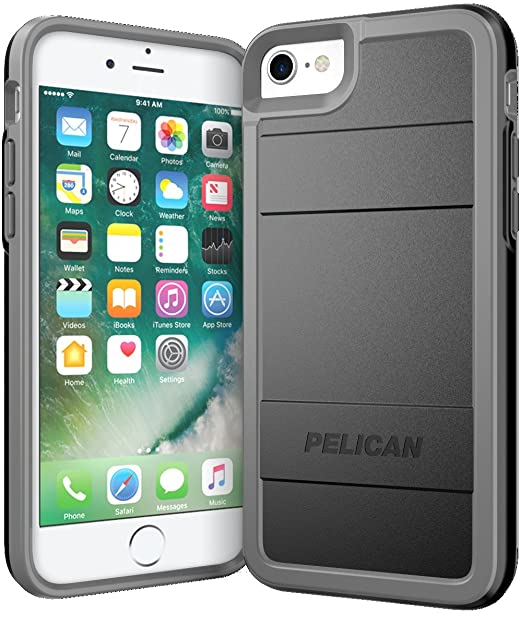 promo code 99112 b8bbd Pelican Protector iPhone 7 Case (Black/Gray)