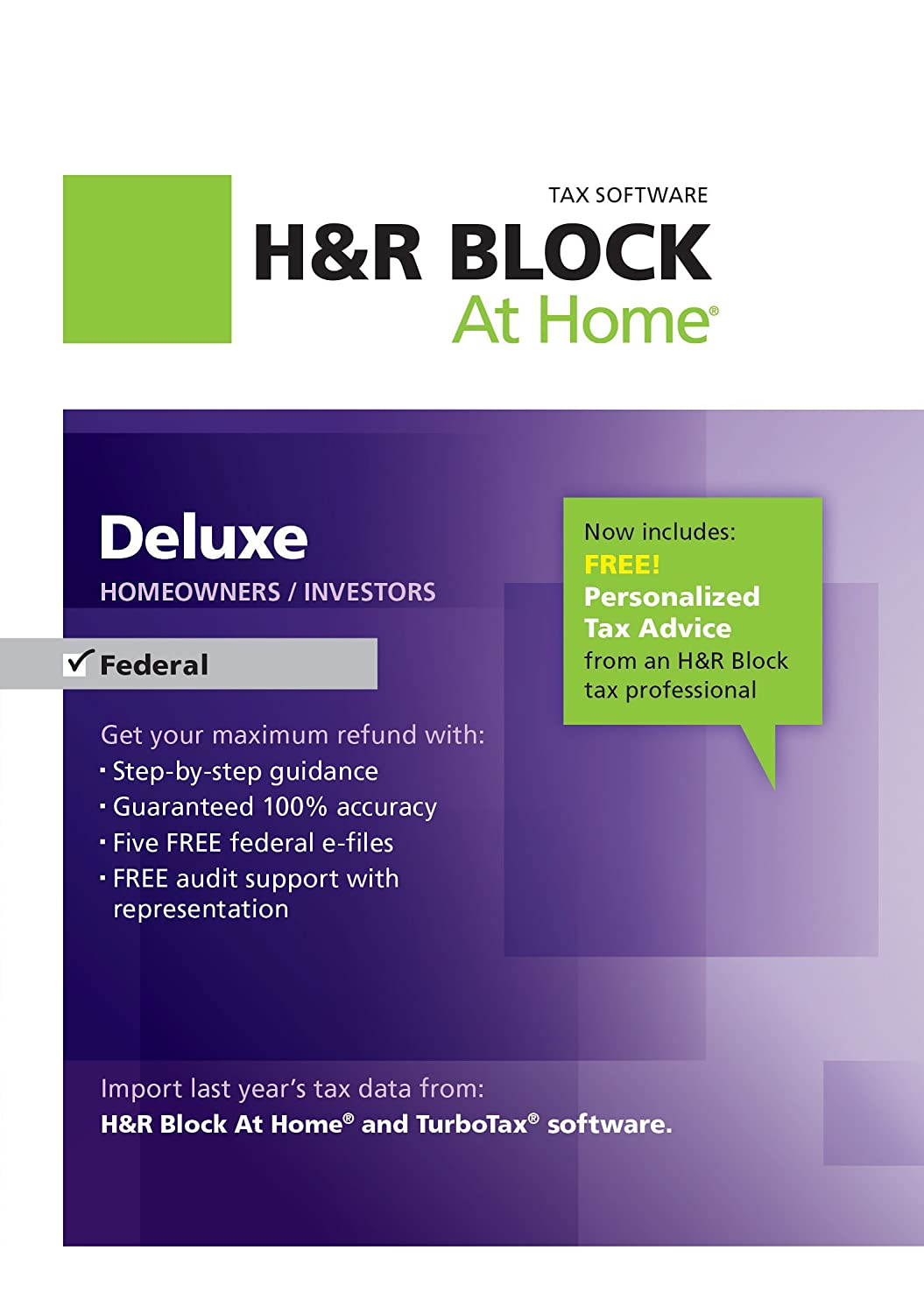 H&R Block At Home Deluxe 2012 [Download] (Old Version)