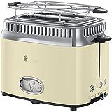 Russell Hobbs 21682-56 Toaster Retro Vintage Cream, Retro Countdown-Anzeige, Schnell-Toast-Technologie, 1300 Watt, creme