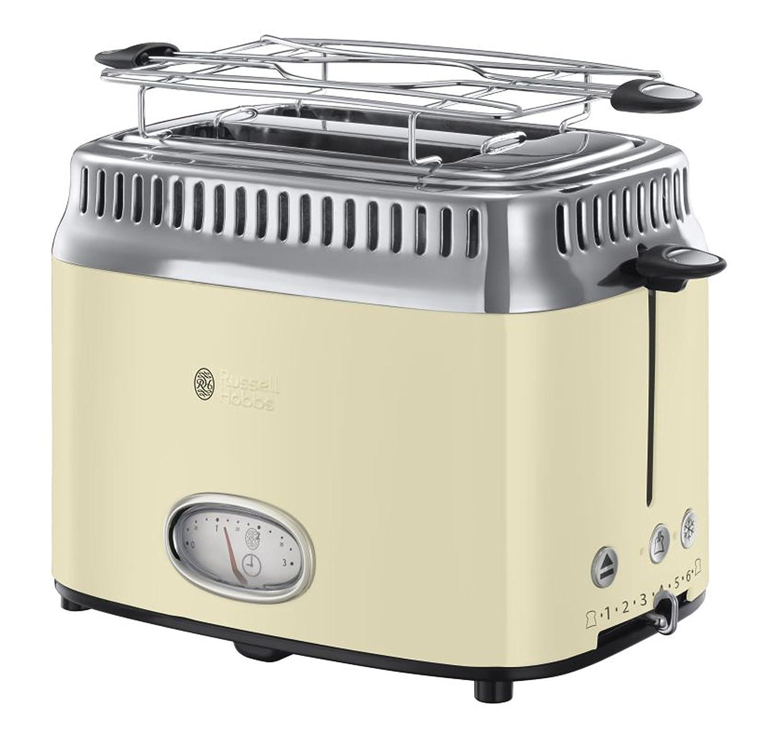 Amazon.de: Russell Hobbs 21682-56 Toaster Retro Vintage Cream, Retro ...