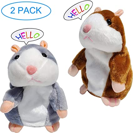 Talking Hamster Plush Interactive Toys Mimicry Pet Repeats What You Say for Kids