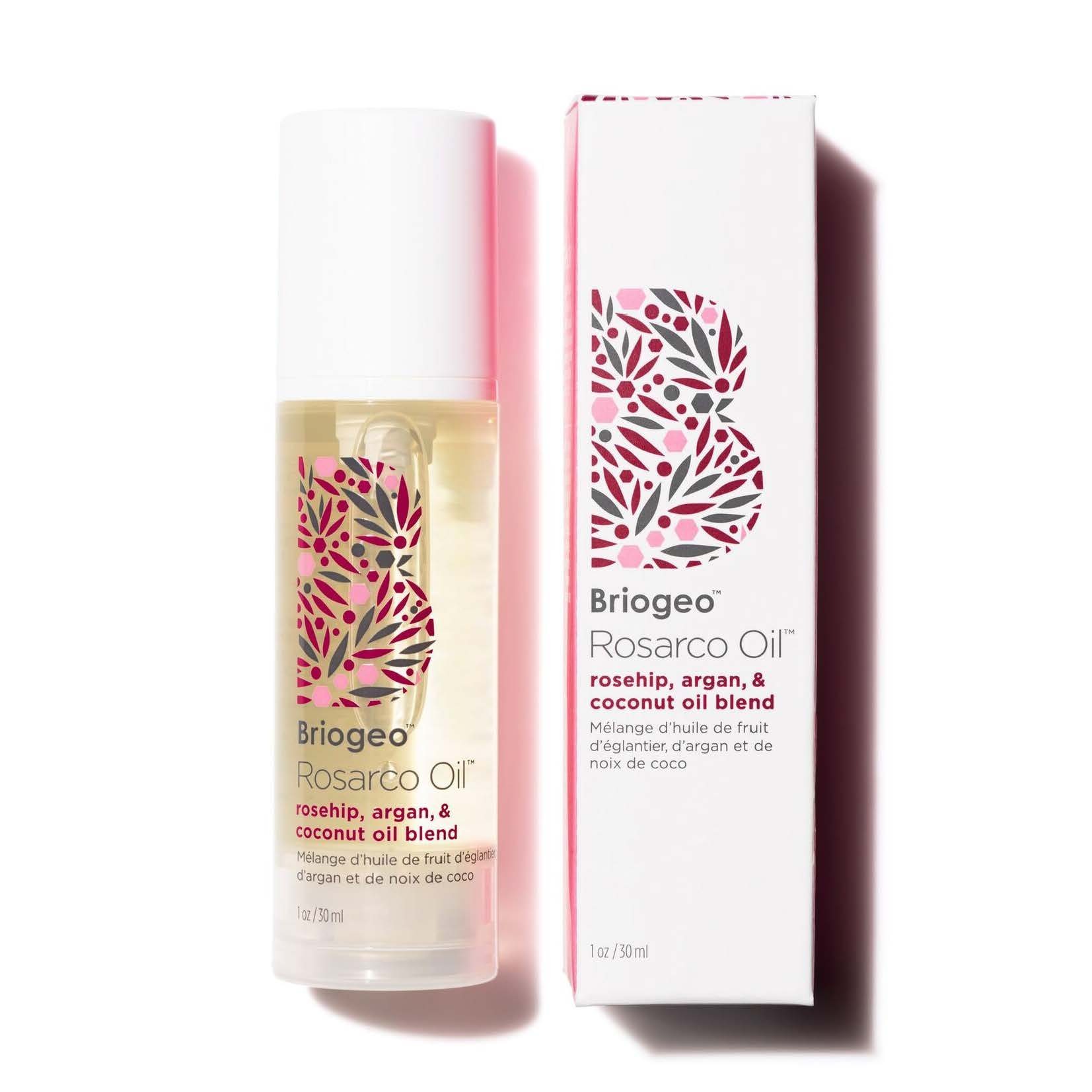 Briogeo - Rosarco Oil, Rosehip, Argan, and Coconut Oil Hair Treatment for Dry, Damaged and Brittle Hair, 1 oz