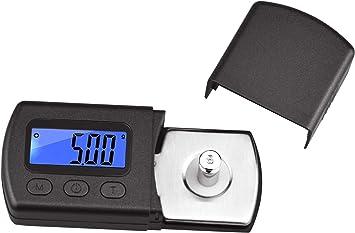 Profesional Digital de Alta precisi/ón Mini Turntable Stylus Fuerza Escala Gauge Medidor Joyas Escala