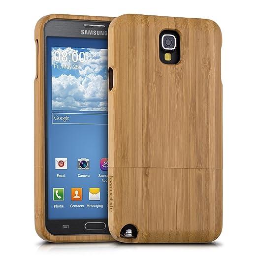 28 opinioni per kwmobile Custodia in legno per Samsung Galaxy Note 3 Neo Cover legno naturale