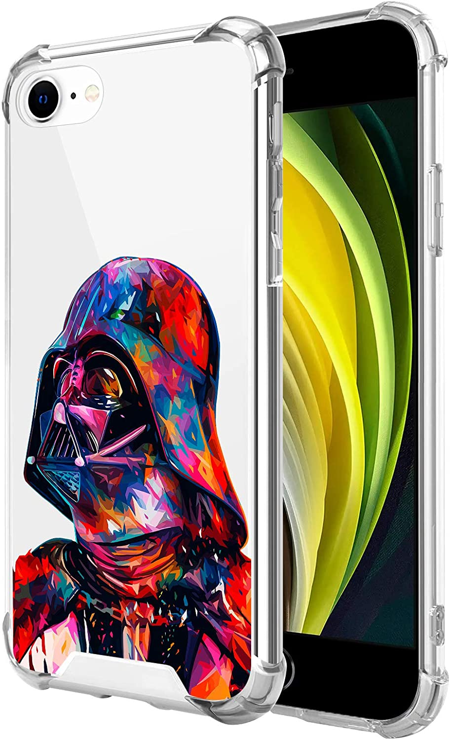 Compatible with iPhone 8 iPhone 7 iPhone SE 2020 Clear Case, Shockproof Slim Fit TPU Cover Protective Phone Case for iPhone 8/7 /SE 2020 4.7
