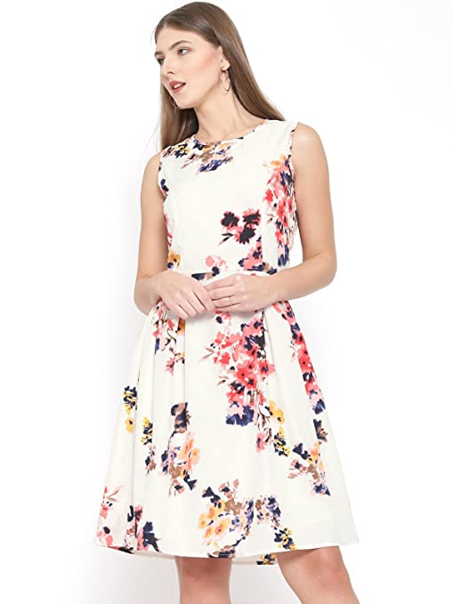 RARE Women's Midi Dress  EP1392 M_Multicolored_Medium  Dresses