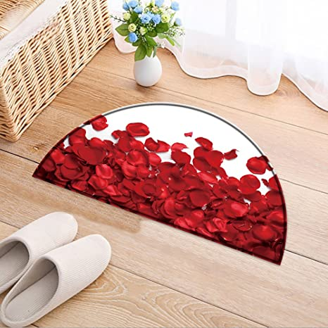 Amazon Com Nalahomeqq Door Carpet Rose Petals On White Ground For
