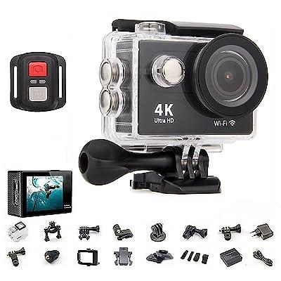 4K Ultra HD 4096p Action Cam WiFi Caméra Digitale Caméscope DV Sport étanche wifi Full HD DV voiture HDMI Télécommande Étanche Lentille grand angle 170° Camésco