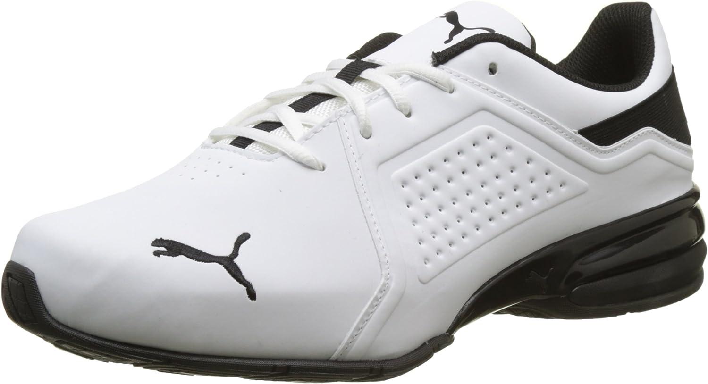 PUMA Viz Runner Herren Low Boot Sneaker Sportschuhe Weiss-Schwarz