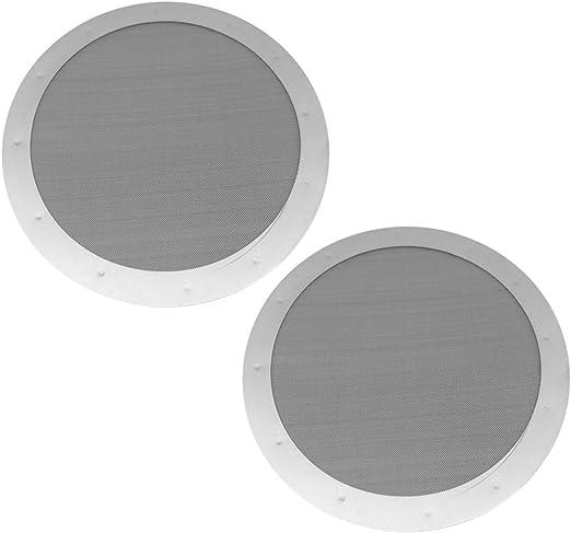 Filtro de café, Filtro Para Cafetera Filtros de malla redondos de acero inoxidable reutilizables lavables de 2 ...