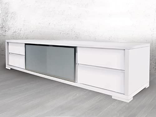 Casabianca Furniture PINETO High Gloss White Lacquer Entertainment Center by Casabianca Home,