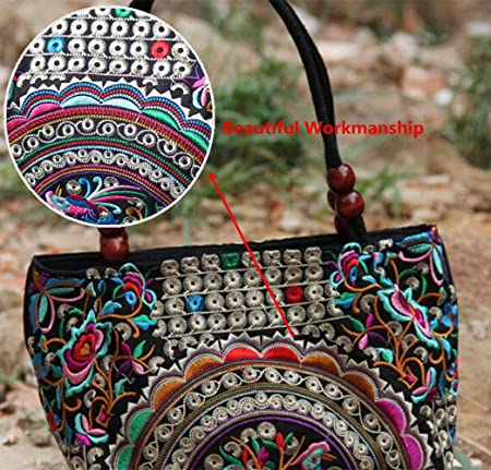 Details about  /Women Chinese Flower Ethnic Embroidery Retro Shoulder Handbag Tote     *