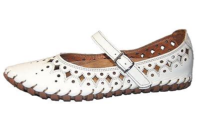 Gemini Damen Ballerina Weiß 31211 02 001: : Schuhe