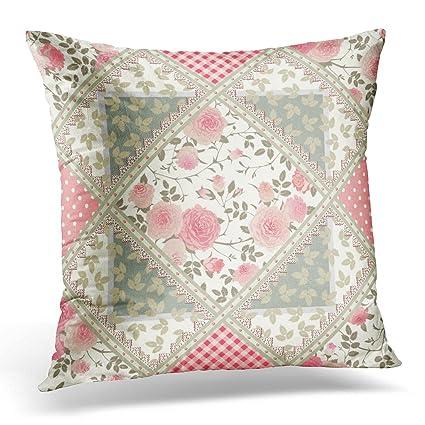 Amazon.com: Emvency Decorative Pillow Cover Green Quilt ...