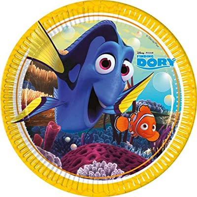 Disney 48398 Finding Dory Party Decoration Plates Paper, 23 cm/Large: Toys & Games