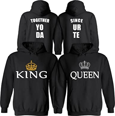 2da43614aa5 Amazon.com  King   Queen  Personalized  Together Since  Your Date ...